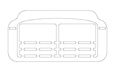 Business card base dxf File