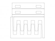 Sheet Rack dxf File