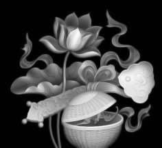 Flowers CNC Grayscale Image BMP File