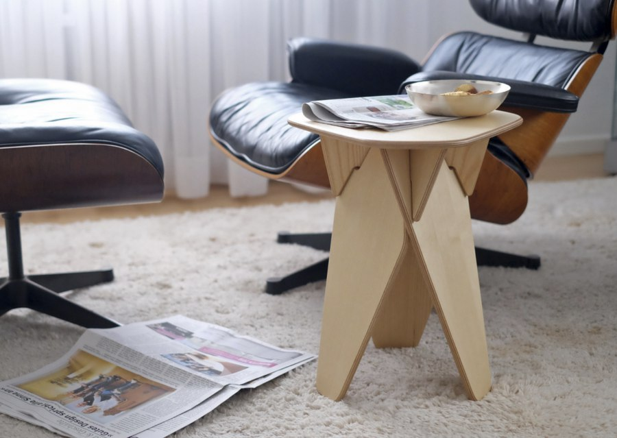 Table Stool Laser Cut Free Vector