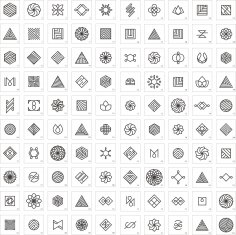 Geometric Premade Logo Set Free Vector
