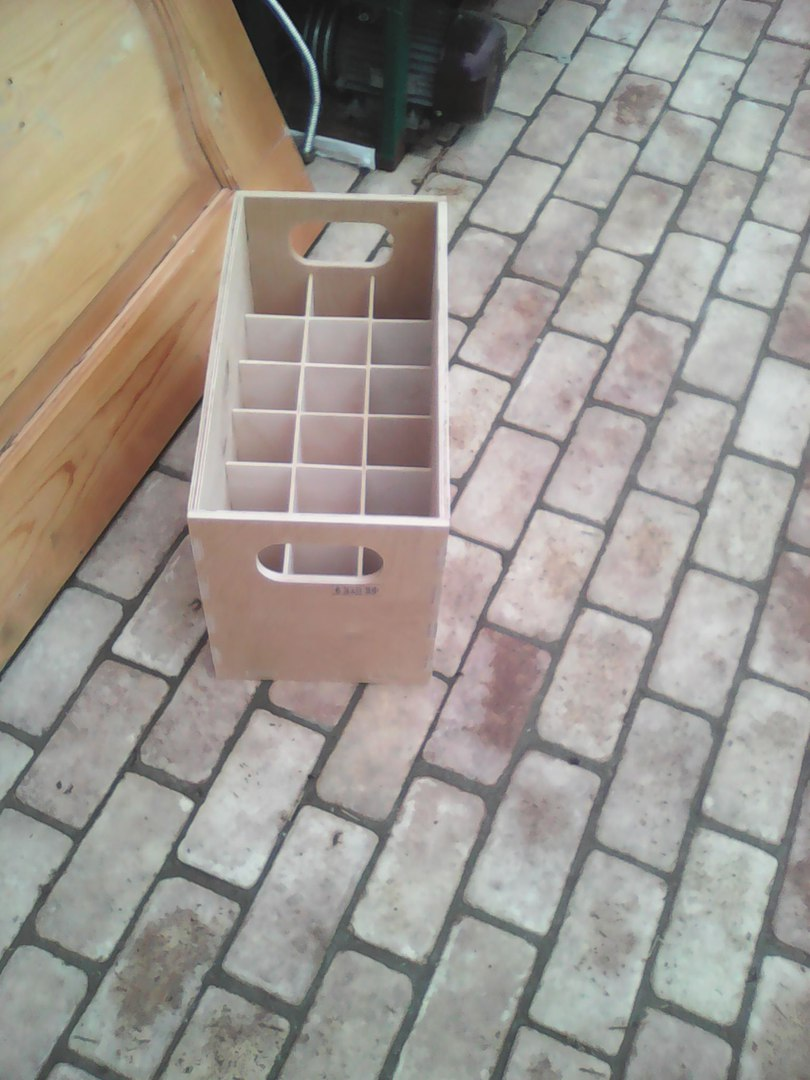 Box For 18 Pieces Of Bottles dxf File