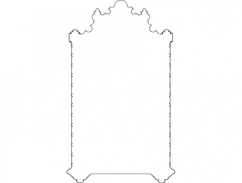 Ornament Deco dxf File