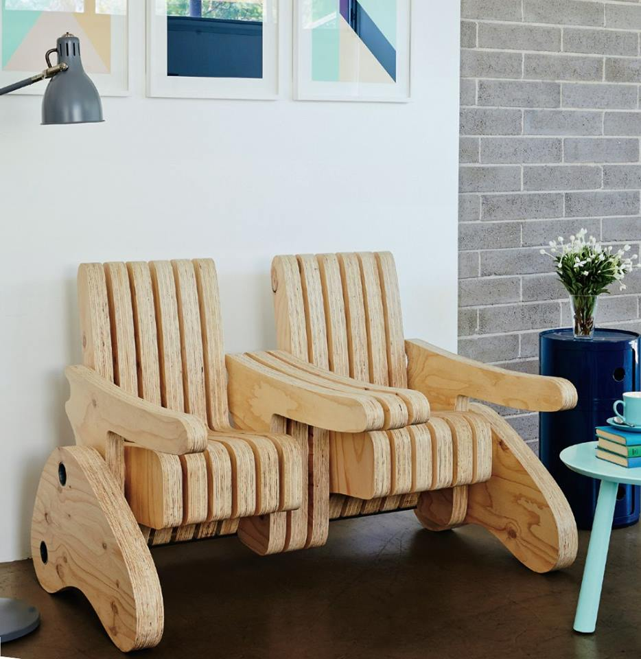 Plywood Multi Function Seat 2 Free Vector
