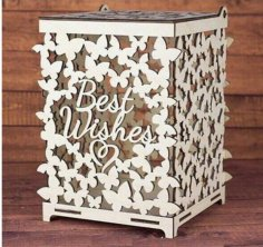 Wedding box for money Butterflies CDR File