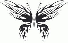 Tribal Butterfly Vector Art 27 DXF File