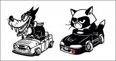 Cartoon Sticker CDR File