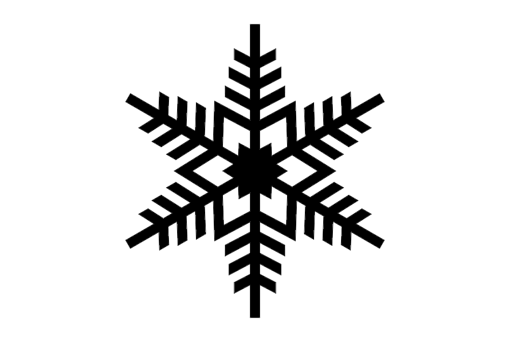 Snowflake Design dxf File