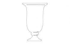 Fancy Shot Glass dxf File