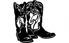 Horse Boots dxf File