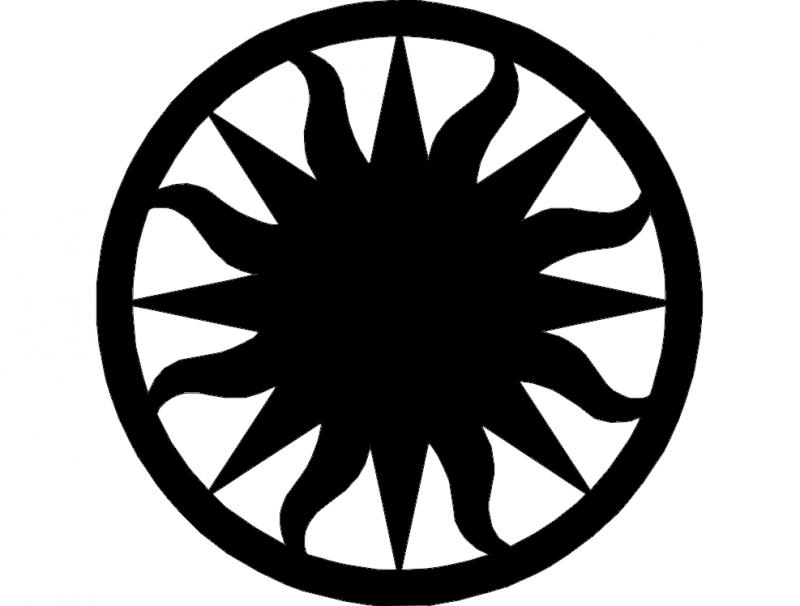 Sun 2 dxf File
