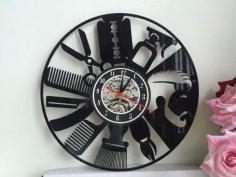 Clock Orologi Vinile dxf File