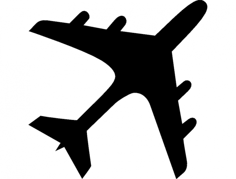 Airplane Silhouette dxf File