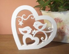 Birds In The Heart dxf File