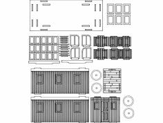 Cabuz 3D Puzzle dxf File