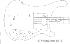 Rickenbacker Series 400 body dxf File