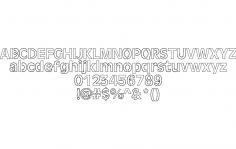 Laser font dxf File
