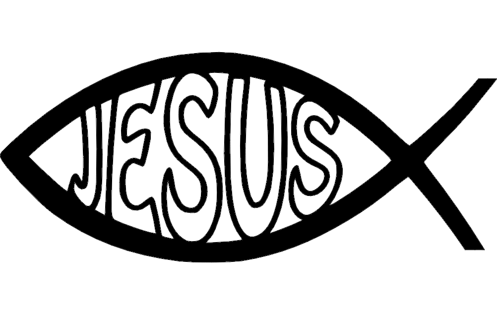 Jesus fish dxf File