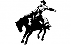 Rodeo Silhouette dxf File