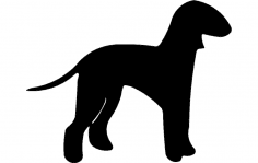Silhuette Dog dxf File