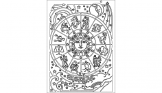 Zodiac dxf File