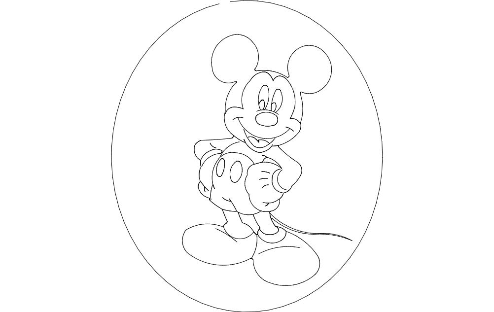 Mickey Mouse Dxf File Free Download 3axis Co