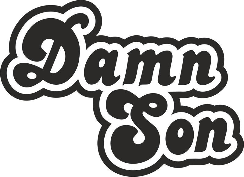 Damn Son Sticker