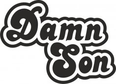 Damn Son Sticker Free Vector