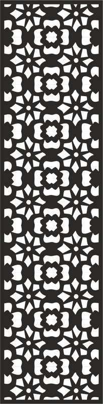 Flower Carving Pattern CDR File