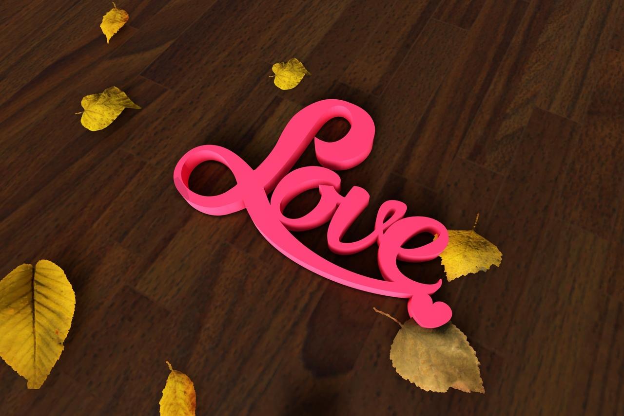 Laser Cut Love Heart Decor Free Vector