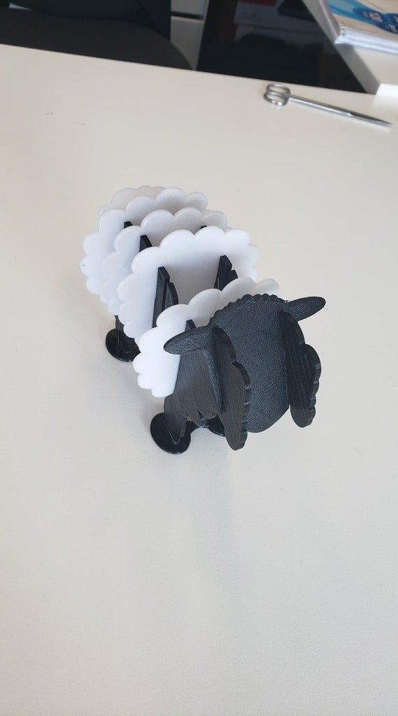 Laser Cut Sheep Coasters 3mm DXF File