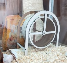 Laser Cut Hamster Wheel Free Vector