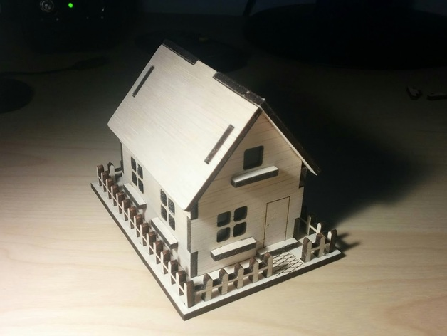 Laser Cut Wooden House 3mm Ply SVG File