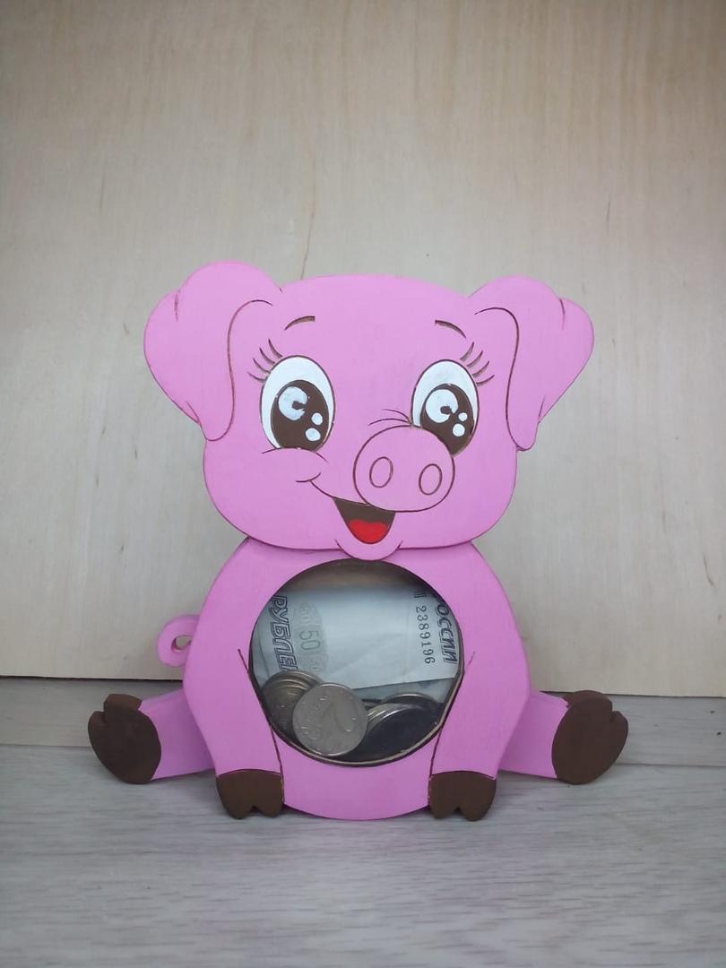Laser Cut Children Piggy Bank Free Vector