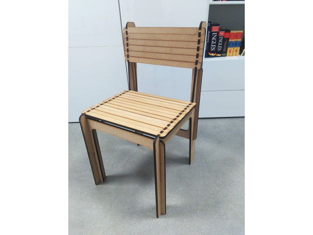 Opensource Laser Cut Chair DXF File
