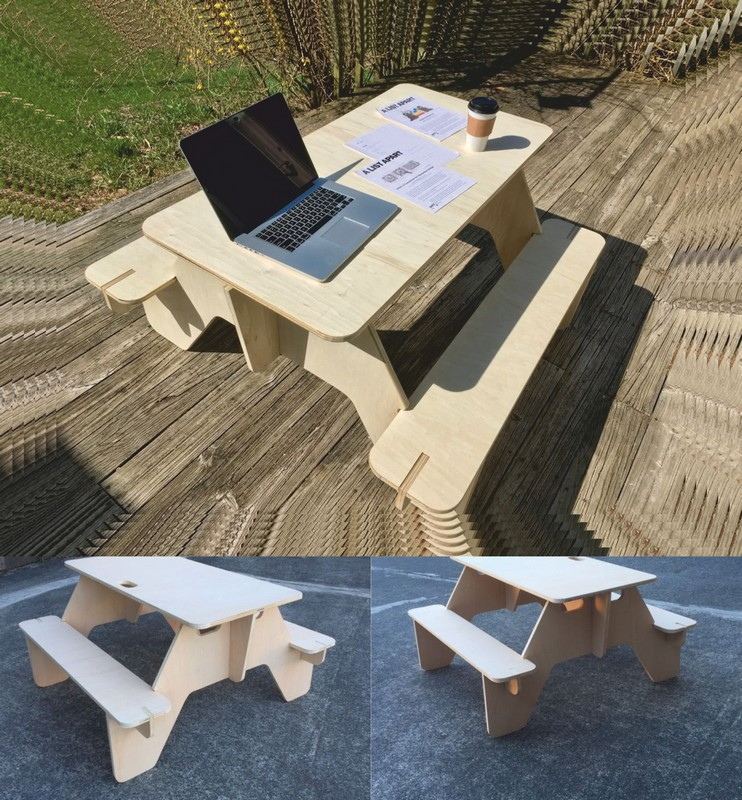 Diy Picnic Table Laser Cutting CNC Router Plans Free Vector