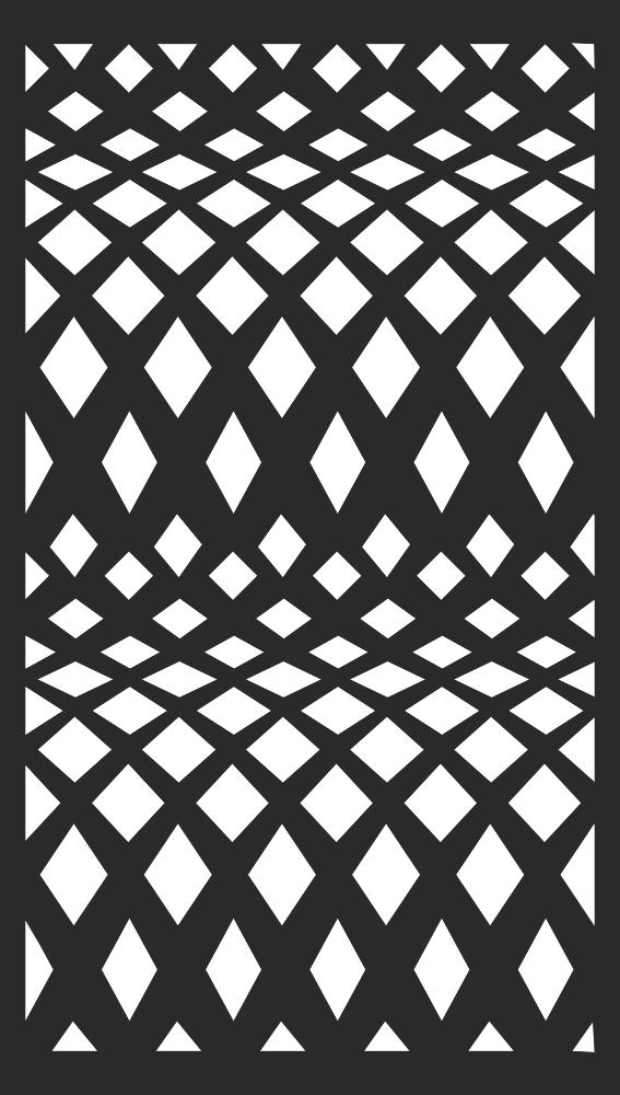 Screening Panel Pattern Free Vector