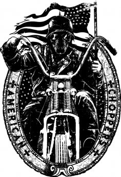 American Chopper Vector Art Free Vector
