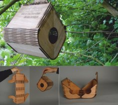 Flexible Plywood Birdhouse DXF File