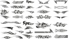 Car Decal Set Free Vector