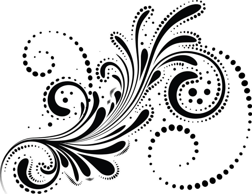 Abstract Swirl Design Element Free Vector