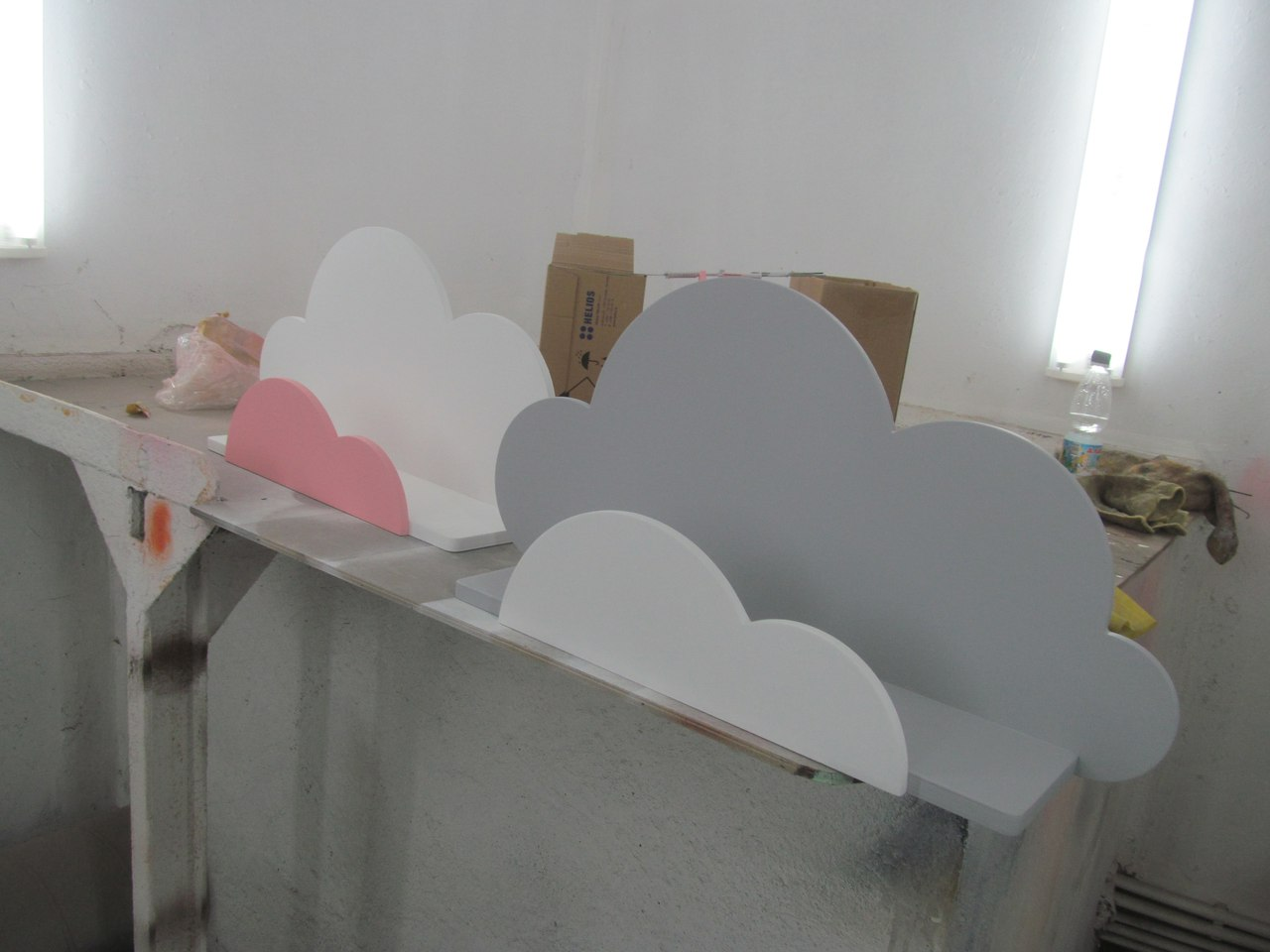 Laser Cut Plywood Shelf 10mm 15mm Clouds Free Vector
