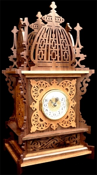 Laser Cut Decor Clock Free Vector