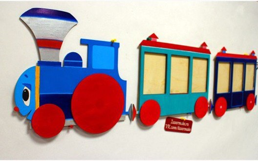 Laser Cut Train Template Free Vector