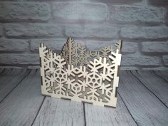 Laser Cut Napkin Holder Snowflake Free Vector