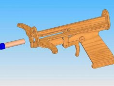 Laser Cut Crossbow Template Free Vector