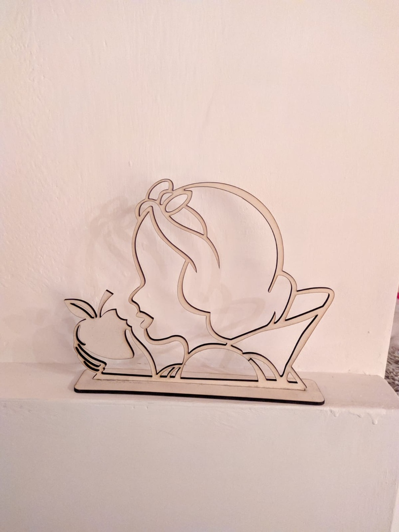 Laser Cut Snow White with Apple DXF File