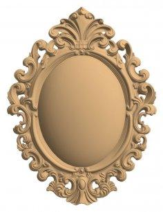 CNC Carved Mirror Frame 3D Model Stl File