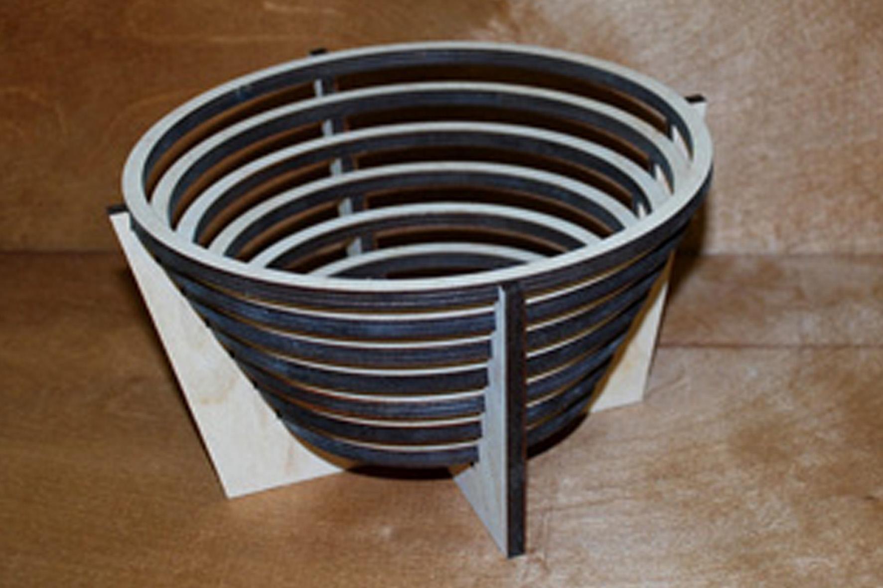Laser Cut Wooden Decorative Vase Free Vector