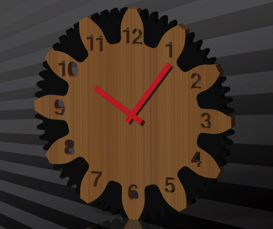 Wall Clock dxf file